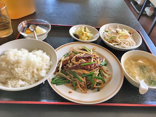 170915聚珍楼ニラレバ炒め定食.jpg