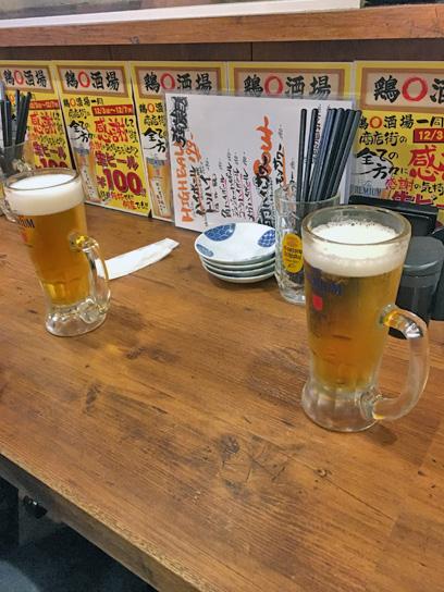 171204鶏◯酒場100円ビール.jpg